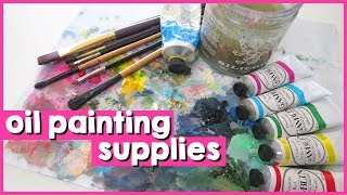 MY ESSENTIAL OIL PAINTING SUPPLIES