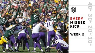 Every Missed FG & Extra Point from Sunday | NFL Week 2 Highlights
