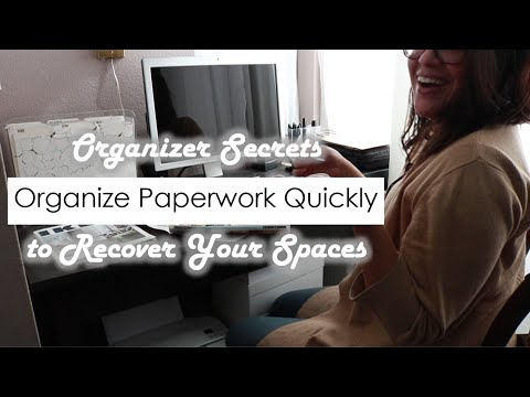 How to Organize Paperwork Quickly   Months of Paperwork Filed in 30 Minutes (2018)