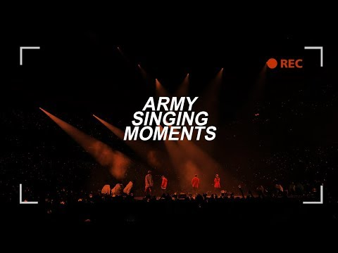 BTS || ARMY singing moments