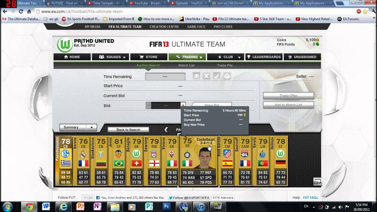 Fifa ultimate team trading strategies