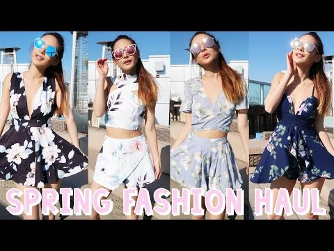 SPRING FASHION HAUL! NEW OUTFITS FOR COACHELLA AND SPRING 2017! SPRING FASHION LOOKBOOK!