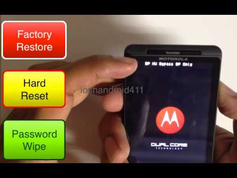 Hard Reset Factory Restore Password Wipe Motorola Droid X2 Verizon How to Tutorial