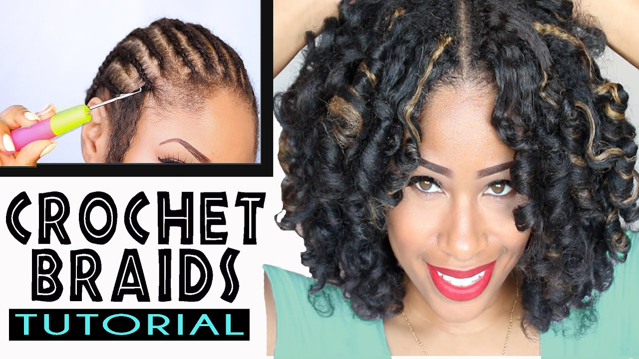 Crochet Hair Tutorial : How To: CROCHET BRAIDS w/ MARLEY HAIR ! (ORIGINAL no-rod technique ...