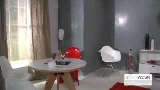 Peinture loft beton cire les d coratives sur by produ - Peinture sur mur beton ...