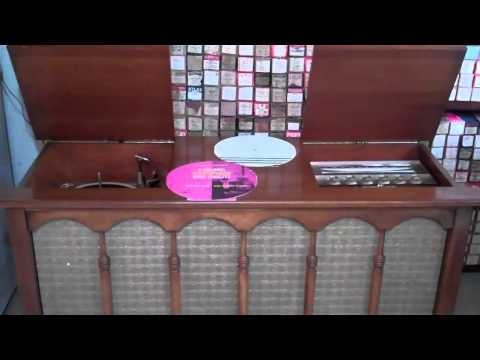 1961 Motorola Console Stereo fully restored. Playing an original 1961 demonstration record