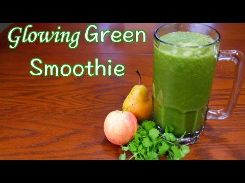 Glowing Green Smoothie for Healthy Hair and Skin