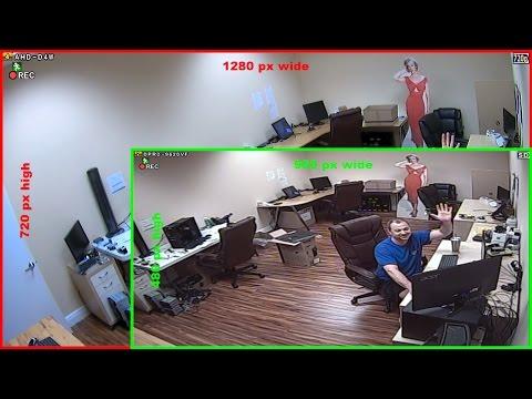 HD CCTV Camera (720p AHD) vs SD CCTV Camera (960H) Video Surveillance