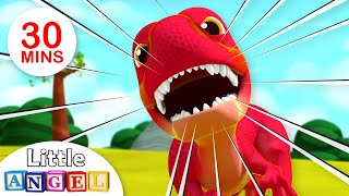 Baby T-Rex - We Are the Dinosaurs | Jungle Animals Kids Songs & Nursery Rhymes Little Angel