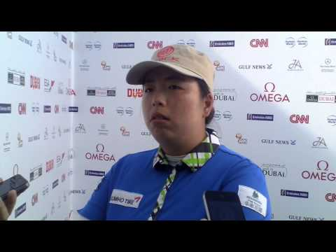 Shanshan Feng after her 2nd round 67 at the 2014 Omega Dubai Ladies Masters