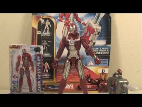 Iron Man 2 Mark V Armor Iron Man With Suit Case Movie Series Action Figure  Toy Review