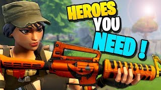 *MUST* HAVE HEROES! The Best Heroes in Fortnite Save the World PVE