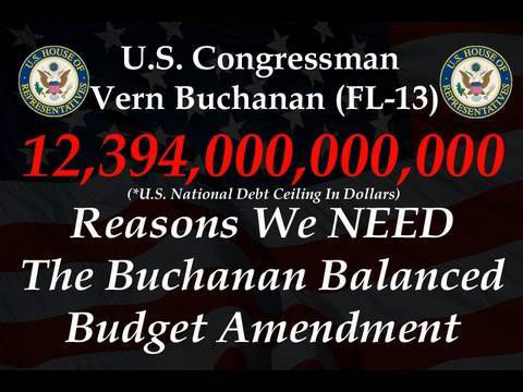 Rep Buchanan Demands Balanced Budget Amendment