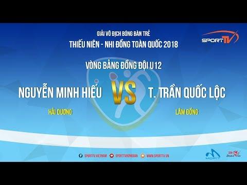 Giải Trẻ TN NĐ Toàn Quốc 2018  Nguyễn Minh Hiếu  vs T Trần Quốc Lộc LĐ  Vòng Bảng ĐĐ U12
