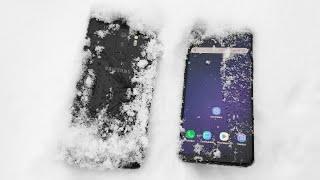 Тест снегом, водой и огнём Samsung Galaxy S9 , S9 Plus / Арстайл /
