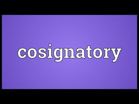 Header of cosignatory