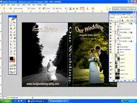 cara membuat cover dvd photoshop CS5