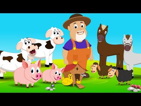 Old Macdonald Had A Farm | Nursery Rhymes For Children | Little Kids TV
