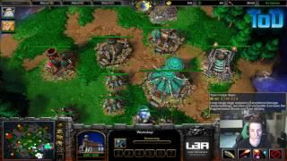 Warcraft III #267 - ToD & Grubby 2v2 vs Orc&Human (Turtle Rock)