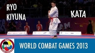 World Combat Games 2013. Ryo KIYUNA of Japan. Karate Men