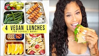 4 BOMB VEGAN LUNCHES for SCHOOL + WORK!