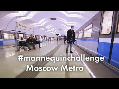 mannequin challenge en el metro de moscu se unio al reto viral