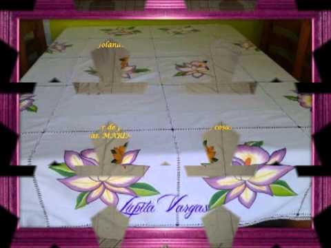 Manteles artesanales dia de las madres 2013 con marimur - Manteles de mesa bordados ...