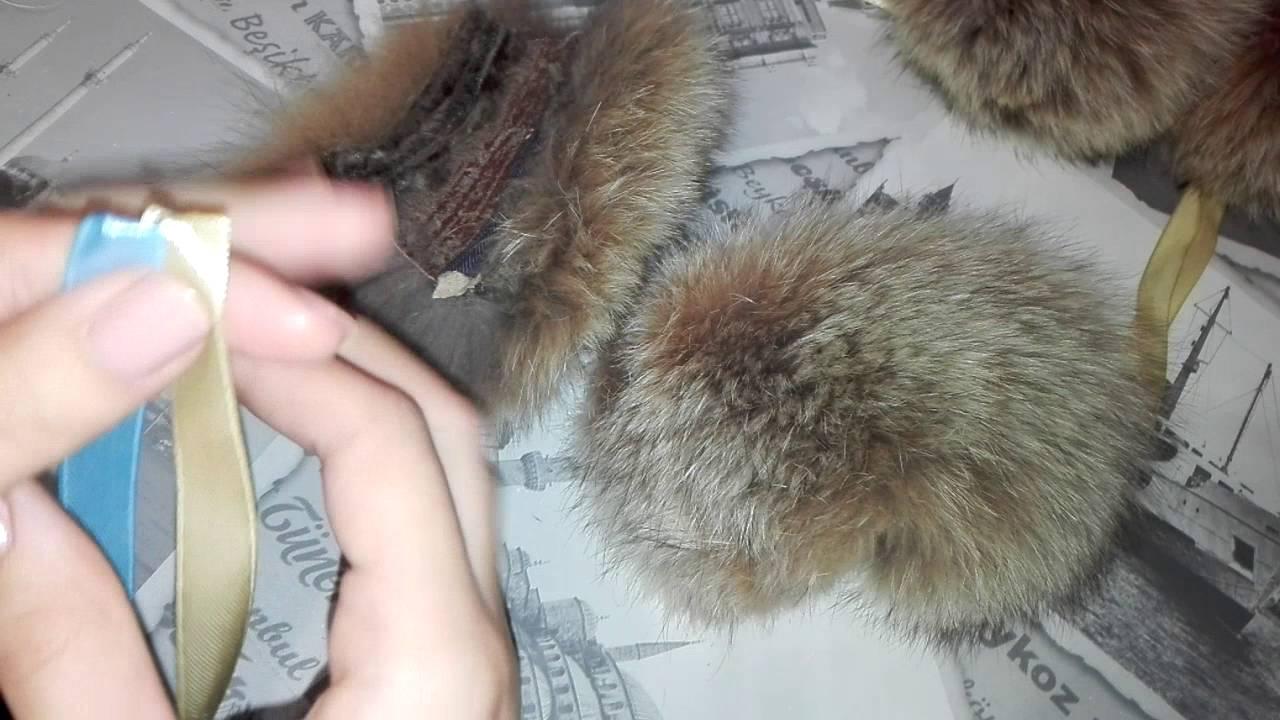 Как сшить помпон их меха