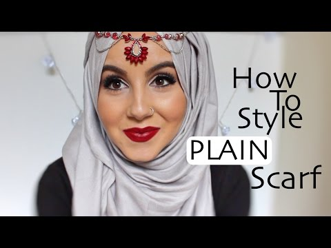How To Style A Plain Scarf! |Aminachebbi - YouTube