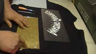 How To Apply Amazing Graphics With Iron On Glitter Vinyl (Cricut)