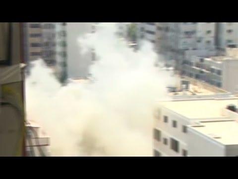 CNN reporter has a close call in Gaza