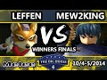 The Big House 4 - Leffen Fox Vs. Mew2King Marth - Winners Finals - SSBM