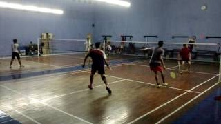 Badminton match by amateurs - GOR Ilomata - Rj/Ian vs Leo/Ojahan