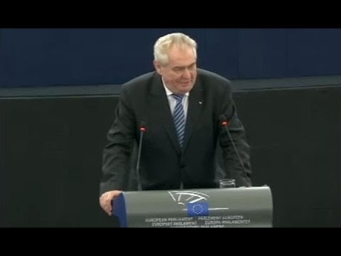 Czech President in The European Parliament FULL SPEECH Bubble bum