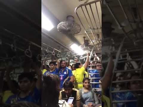 Chennai Super Kings Fans Celebration In Train | CSK Vs MI | IPL 2018