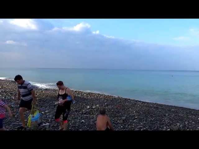 """Лазаревское,  море ранним утром. Пляж у санатория """"Одиссея"""", SOCHI RUSSIA"""