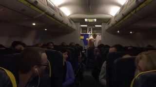 RYANAIR FR1977 / Riga-Dublin. Drunken passenger accident.Emergency landing in Denmark.