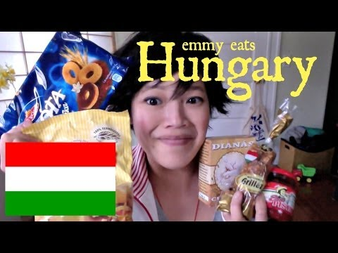 Emmy Eats Hungary - tasting more Hungarian snacks & sweets klip izle