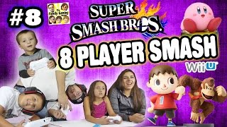 The FGTEEV 8-Player Smash Battle w/ Amiibo (Super Smash Bros Wii U Part 8 Face Cam Gameplay)