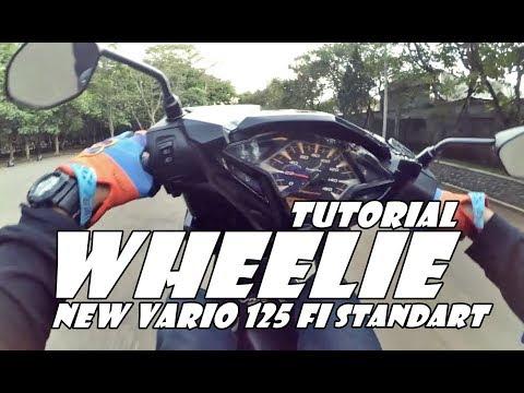 Tutorial Wheelie Motor Matic Standart | Vario Techno 125 Fi | FreestyleVlog Indonesia