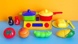 Soup Cooking Kitchen Playset - Toy cutting vegetables cooking toy for children