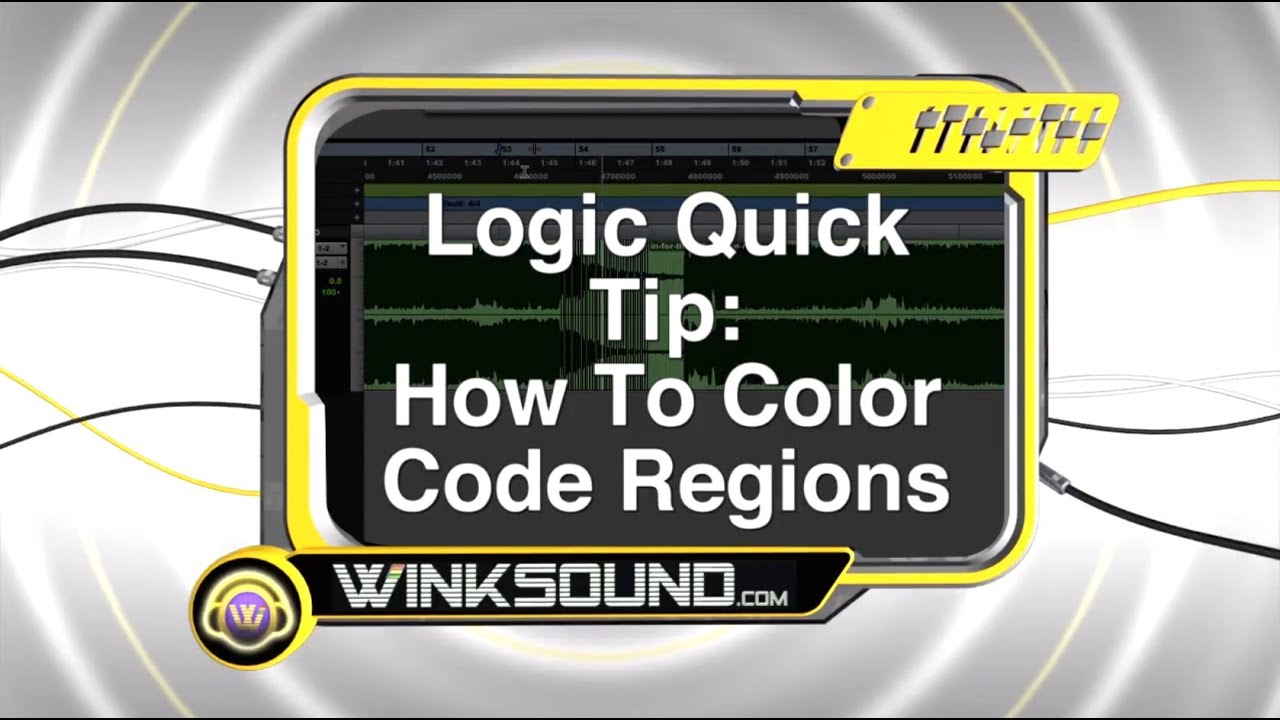 logic pro how to color code regions winksound youtube