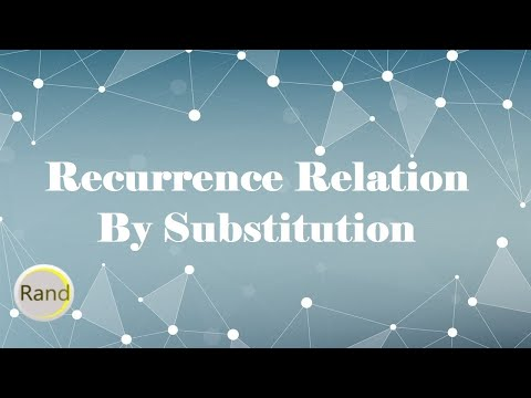 Recurrence relation by substitution