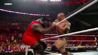 BATISTA vs JOHN CENA vs MARK HENRY 10.5.2010 WWE MONDAY NIGHT RAW