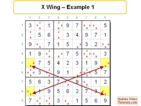 Sudoku Solving Tip - X Wing Technique