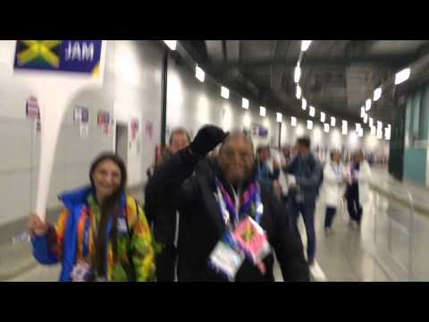 Jamaica Bobsled Sochi Getting Ready to March In