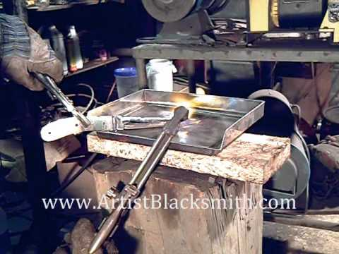 Making a Knife From a Ladder Damascus Billet