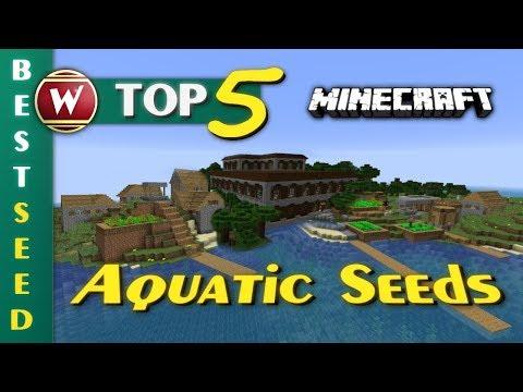 Top 5 Seeds 2018 - Aquatic Update - Minecraft 1.13 || Best Survival Seed [Deutsch]