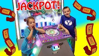 ARCADE GAME JACKPOT!! Winning Lots of Tickets and Prizes With Ava