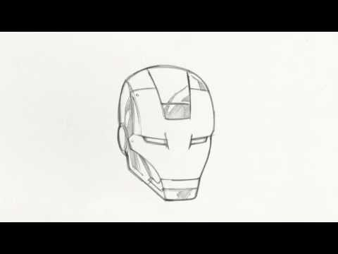 Ironman Helmet Drawing How to Draw Iron Man's Helmet